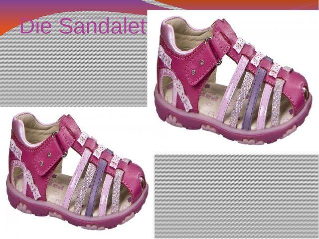 Die Sandalette