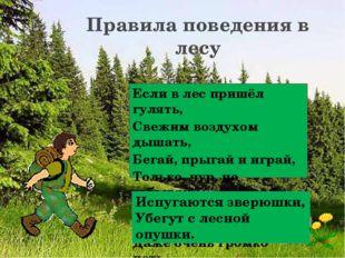 Если в лес пришёл гулять, Свежим воздухом дышать, Бегай, прыгай и играй, Толь