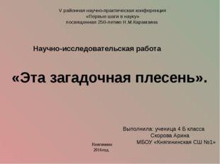 V районная научно-практическая конференция «Первые шаги в науку» посвященная
