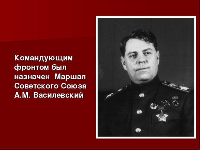 Командующим фронтом был назначен Маршал Советского Союза А.М. Василевский
