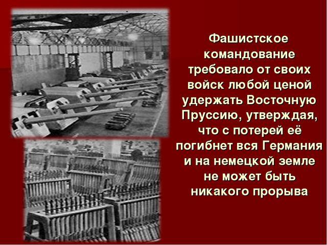 Фашистское командование требовало от своих войск любой ценой удержать Восточ...