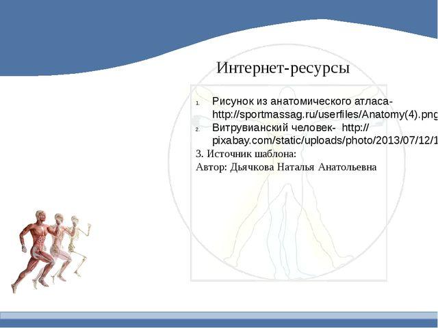 Интернет-ресурсы Рисунок из анатомического атласа- http://sportmassag.ru/user...
