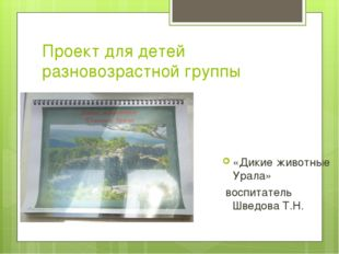 Проект для детей разновозрастной группы «Дикие животные Урала» воспитатель Шв