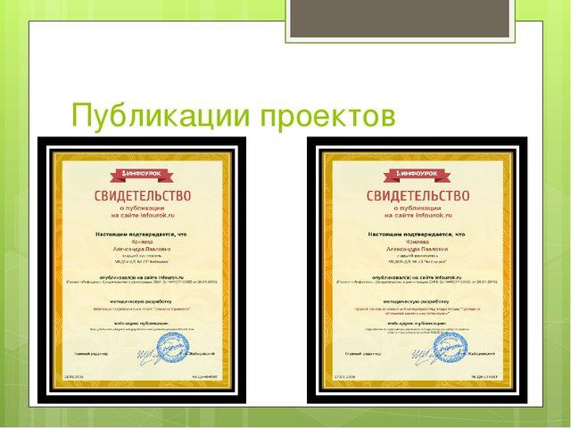 Публикации проектов