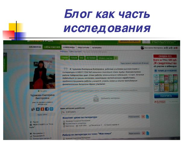 Блог как часть исследования