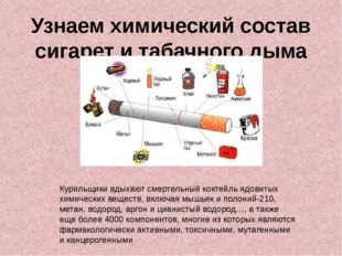 Узнаем химический состав сигарет и табачного дыма Курильщики вдыхают смертель