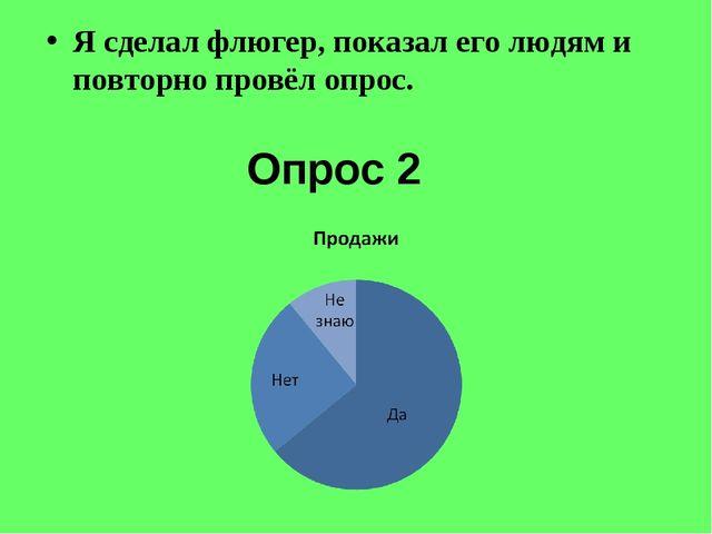Опрос 2 Я сделал флюгер, показал его людям и повторно провёл опрос.