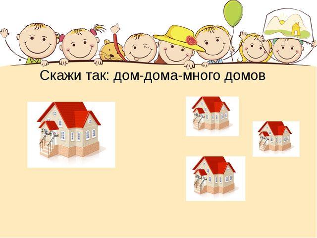 Скажи так: дом-дома-много домов