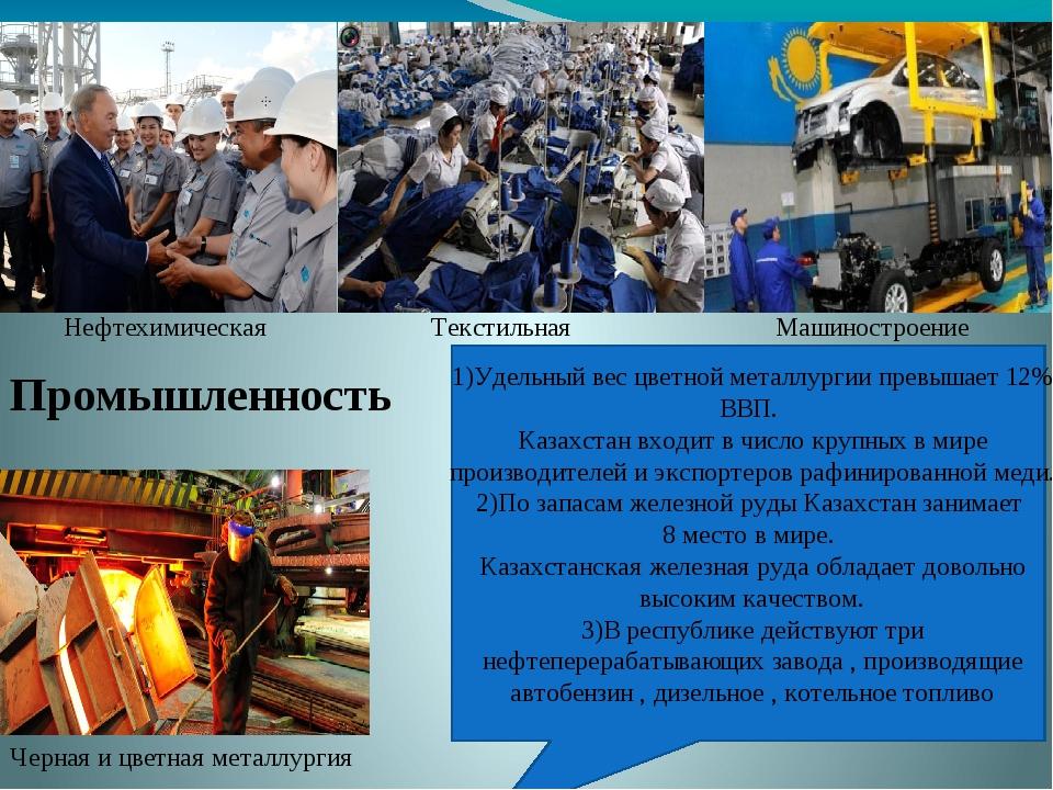 Промышленность Машиностроение Черная и цветная металлургия Нефтехимическая Т...