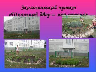 Экологический проект «Школьный двор – моя страна»