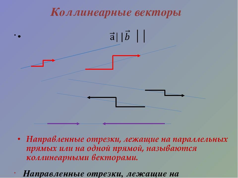 Коллинеарные векторы