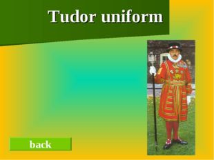Tudor uniform back