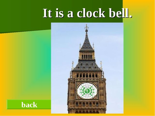 It is a clock bell. back