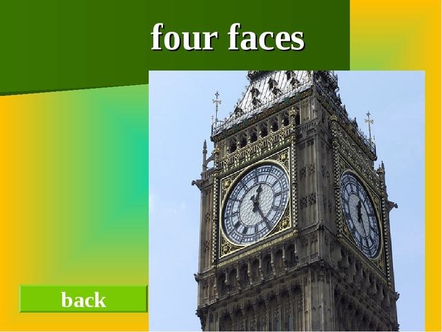 four faces back