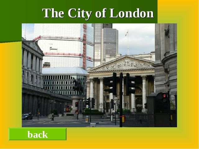 The City of London back