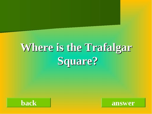back answer Where is the Trafalgar Square?