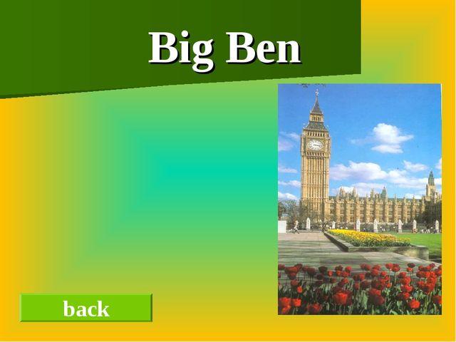 Big Ben back
