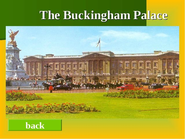 The Buckingham Palace back