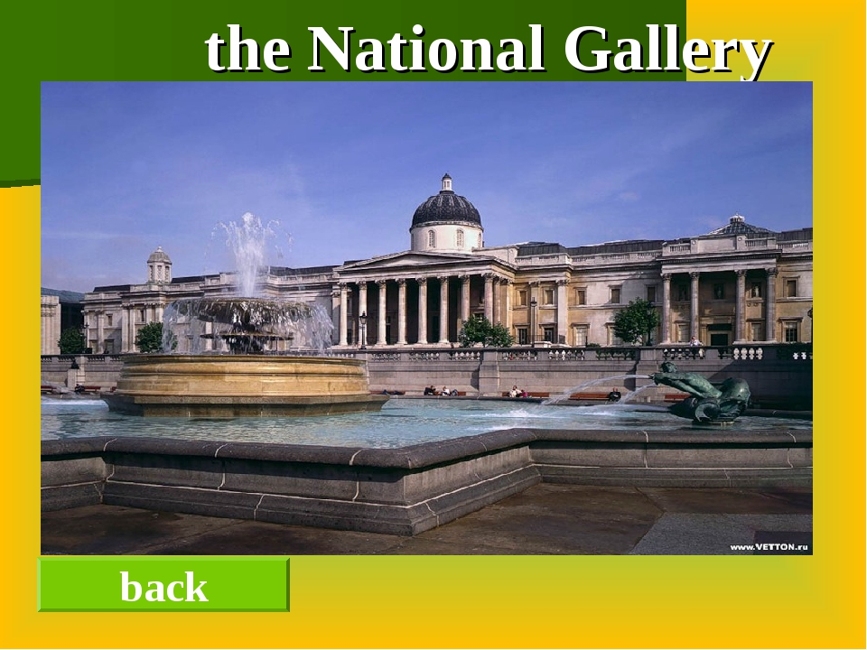 the National Gallery back