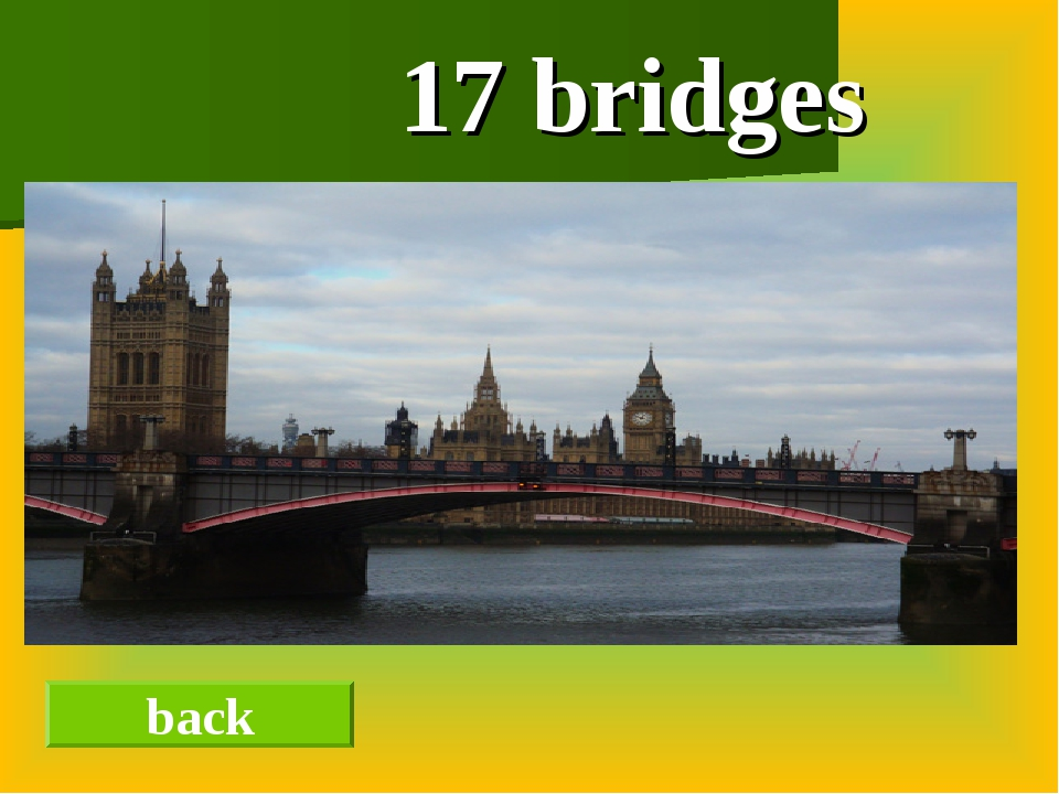 17 bridges back