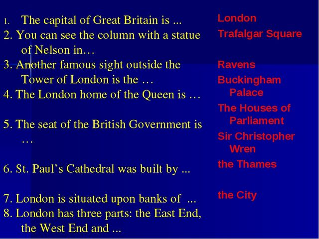 London Trafalgar Square Ravens Buckingham Palace The Houses of Parliament Sir...