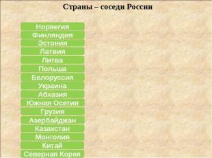 Азербайджан Польша Эстония Белоруссия Северная Корея Казахстан Монголия Китай