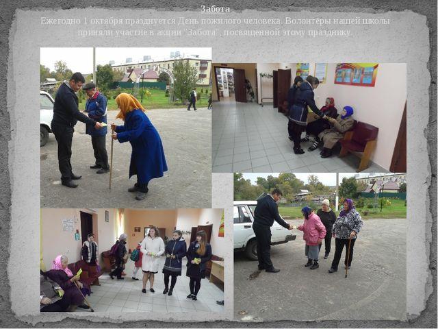 Забота Ежегодно 1 октября празднуется День пожилого человека. Волонтёры нашей...