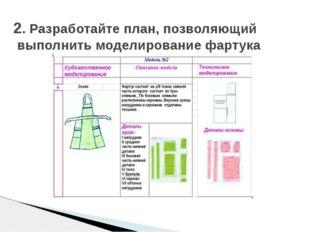 2. Разработайте план, позволяющий выполнить моделирование фартука