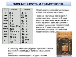 ЗАКРЕПЛЕНИЕ ПРОЙДЕННОГО МАТЕРИАЛА О каких сферах культуры Древней Руси вы теп