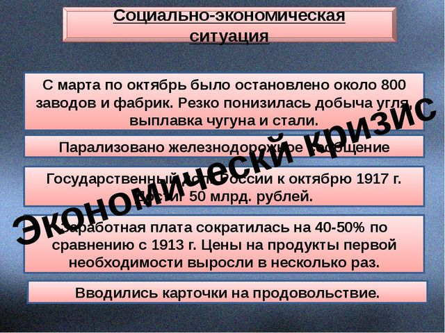 Социально-экономическая ситуация С марта по октябрь было остановлено около 80...