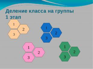 Деление класса на группы 1 этап 1 3 2 1 3 2 1 3 2 1 3 2