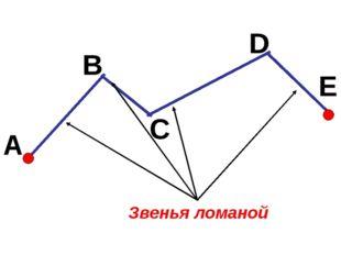 Звенья ломаной A B C D E
