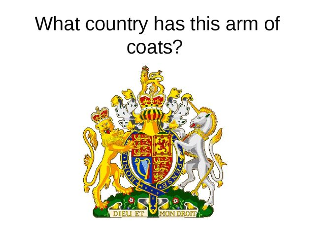 What country has this arm of coats?