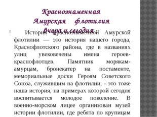 Краснознаменная Амурская флотилия вчера и сегодня История Краснознаменной Ам
