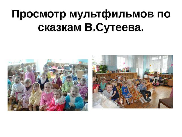 Просмотр мультфильмов по сказкам В.Сутеева.