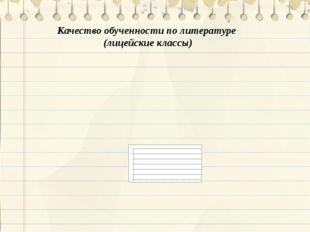 Качество обученности по литературе (лицейские классы)