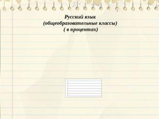 Русский язык (общеобразовательные классы) ( в процентах)