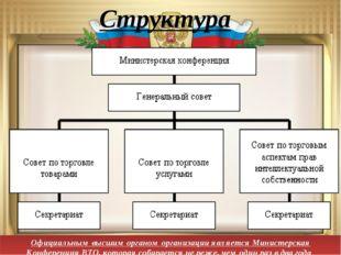 Структура Официальным высшим органом организации является Министерская Конфер