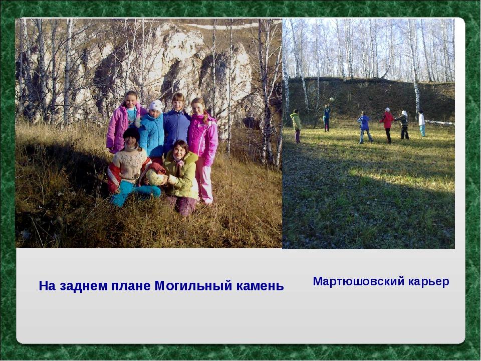 На заднем плане Могильный камень Мартюшовский карьер