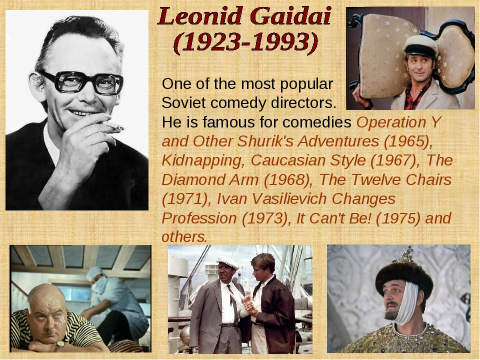 One of the most popular Soviet comedy directors. He is famous for comedies Op...