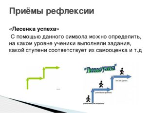 «Лесенка успеха» С помощью данного символа можно определить, на каком уровне