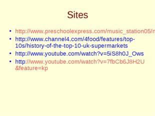 Sites http://www.preschoolexpress.com/music_station05/music_station_nov05.sht