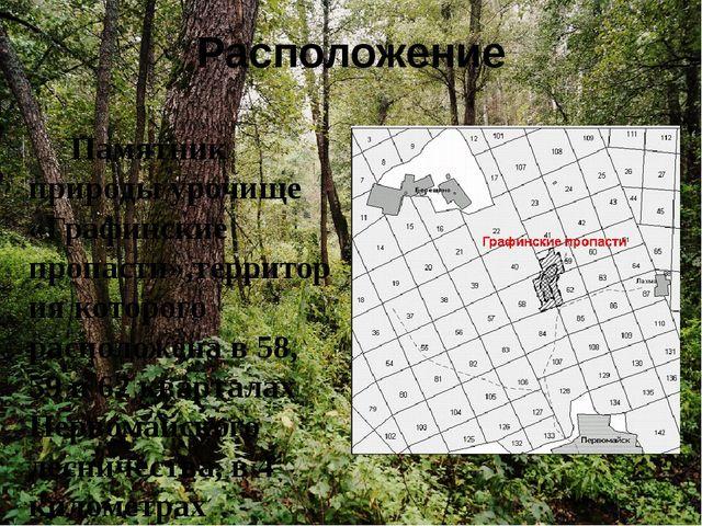 Расположение Памятник природы урочище «Графинские пропасти»,территория которо...