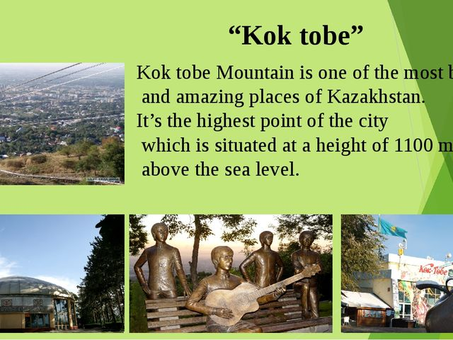 """""""Kok tobe"""" Kok tobe Mountain is one of the most beautiful and amazing places..."""