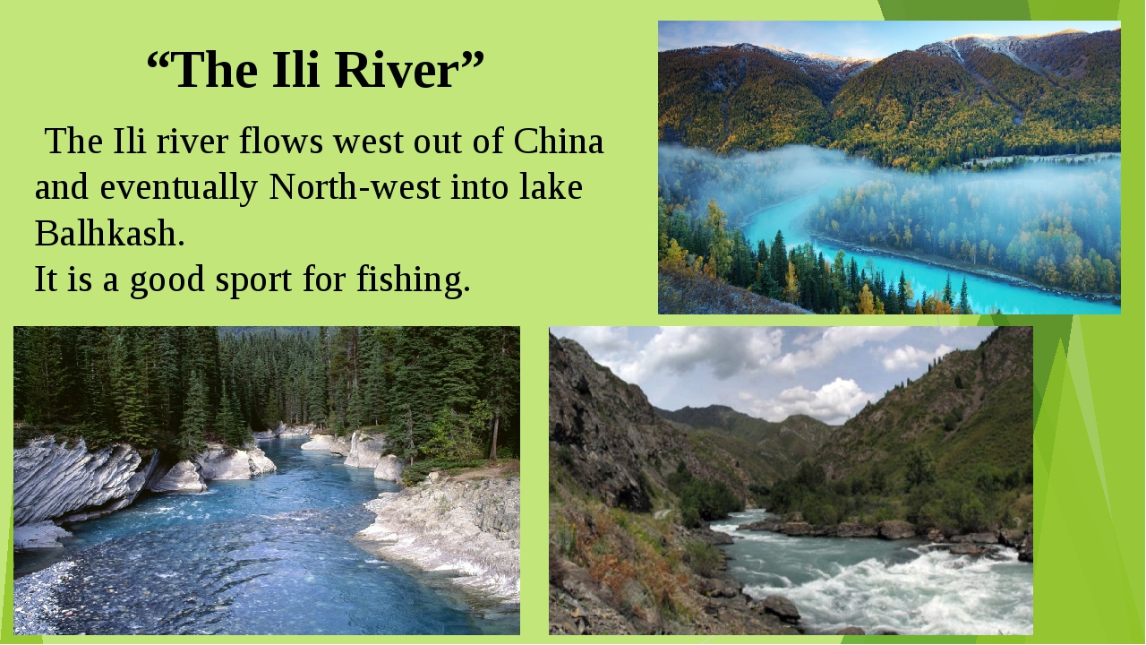 """""""The Ili River"""" The Ili river flows west out of China and eventually North-we..."""