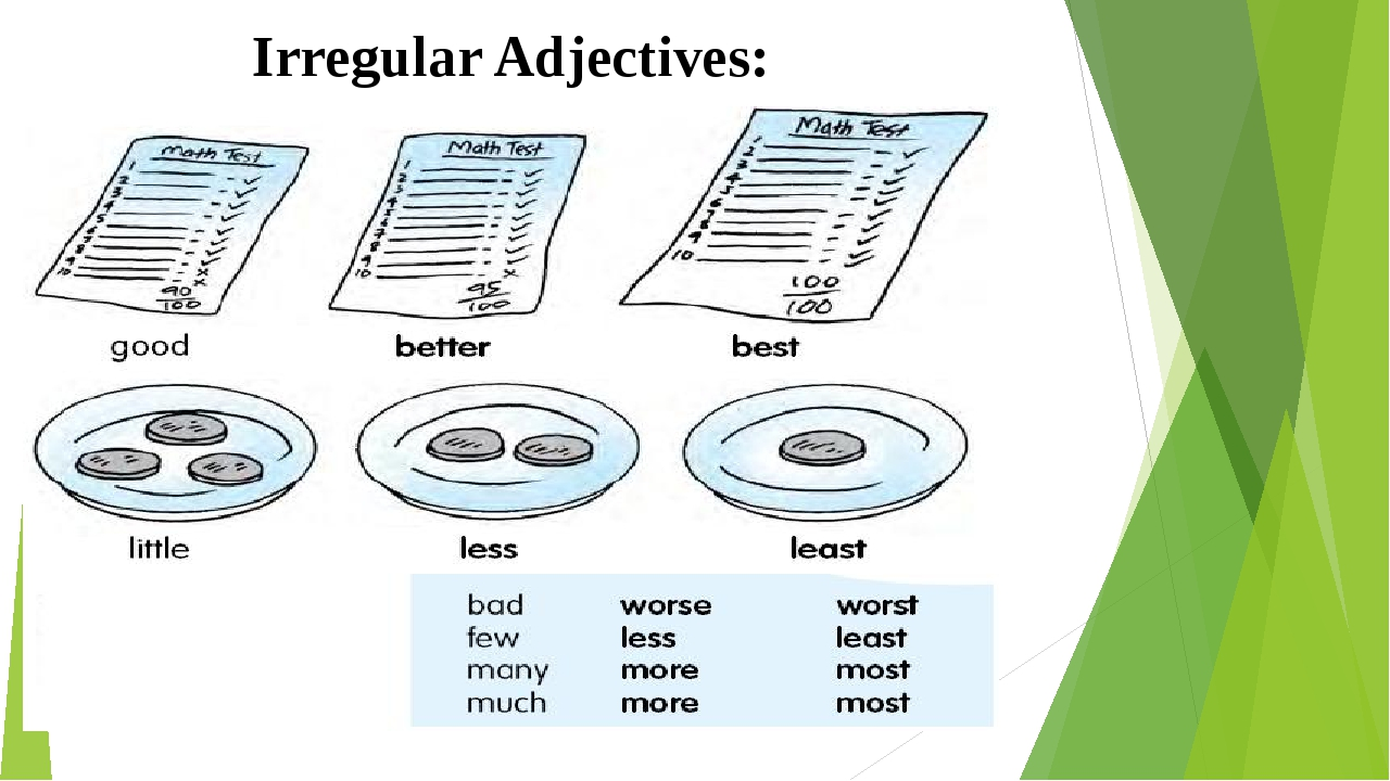 Irregular Adjectives: