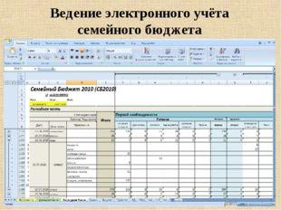 Ведение электронного учёта семейного бюджета