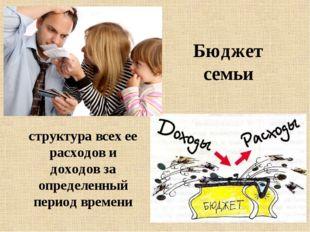 Бюджет семьи структура всех ее расходов и доходов за определенный период врем