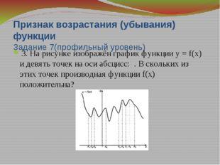 Точки экстремума 6. На рисунке изображён график у=f'(x) — производной функци