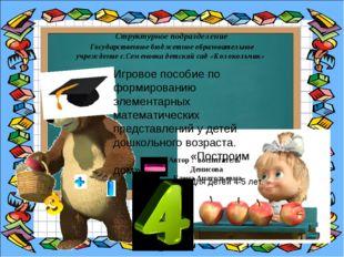 Автор : воспитатель Денисова Елена Анатольевна Структурное подразделение